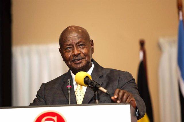 Archivo - El presidente de Uganda, Yoweri Museveni