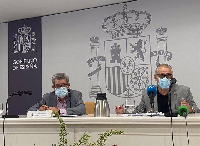 Toscano y Páez en rueda de prensa
