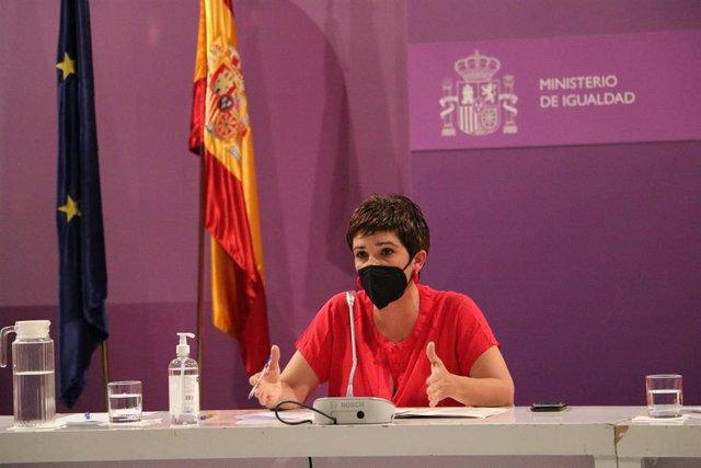 La directora del Instituto de las Mujeres, Antonia Morillas, en una rueda de prensa
