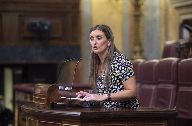 La diputada de Ciudadanos Sara Giménez, en la tribuna del Congreso.