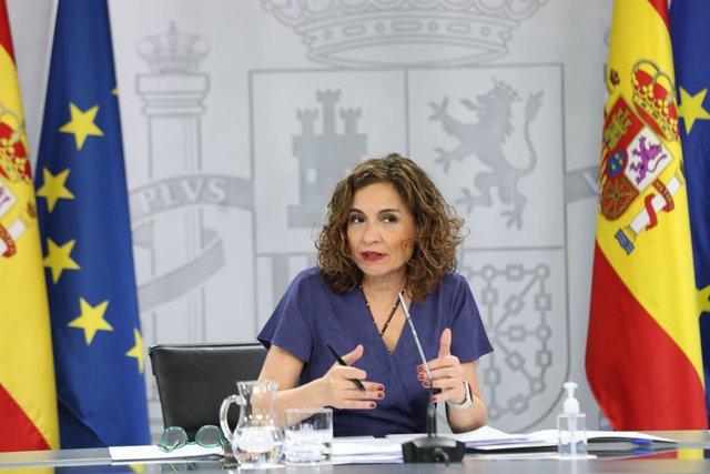 La ministra d'Hisenda i portaveu del Govern, María Jesús Montero