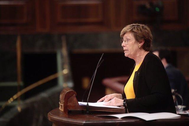 Archivo - La diputada de Unidas Podemos de Baleares, Antònia Jover, en el Congreso.