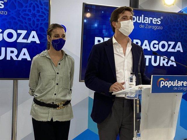 Andrea Levy y Ramón Celma (PP).