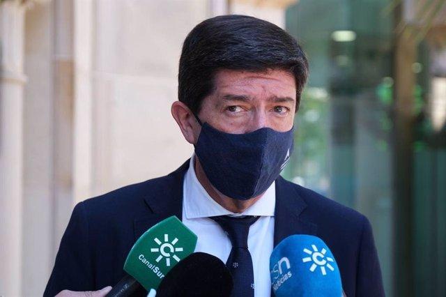 El vicepresidente de la Junta y consejero, Juan Marín