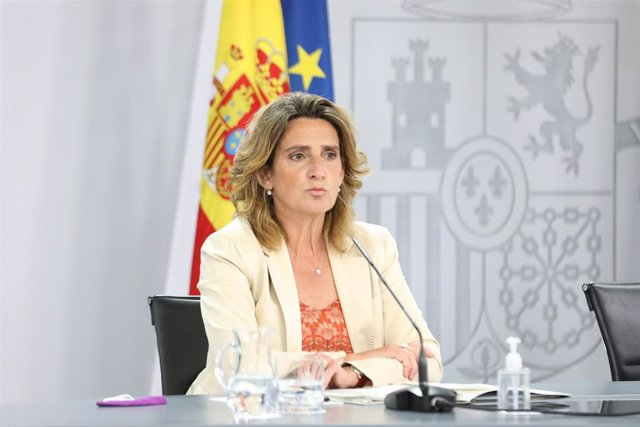 La vicepresidenta cuarta del Gobierno y ministra de Transición Ecológica y Reto Demográfico, Teresa Ribera.