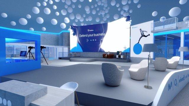 Imatge de l'estand de Telefònica en l'MWC 2021