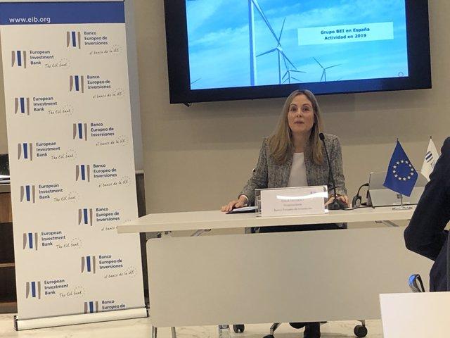 Archivo - La vicepresidenta del BEI, Emma Navarro.
