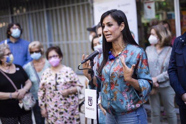 La vicealcaldesa de Madrid, Begoña Villacís, interviene en la presentación de programa comunitario 'Madrid Vecina'