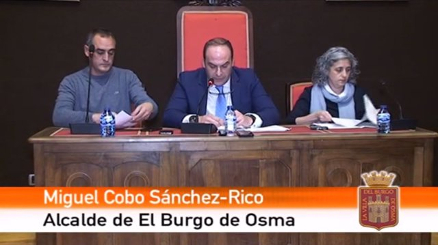 Imagen de archivo de Martín Navas y Miguel Cobo, en un acto del Ayuntamiento de El Burgo.