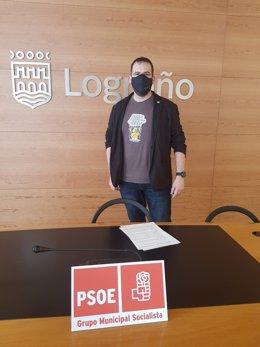 Iván Reinares, portavoz del Grupo Municipal del PSOE de Logroño.