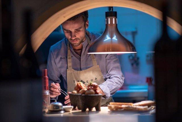 Archivo - El chef canario Borja Marrero en su restaurante Texeda