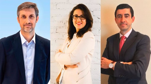 Archivo - Segor Teclesmayer, Irene Sáenz de Santa María y Rafael Cavanillas, nuevas incorporaciones ejeccutivas en la empresa Izertis.