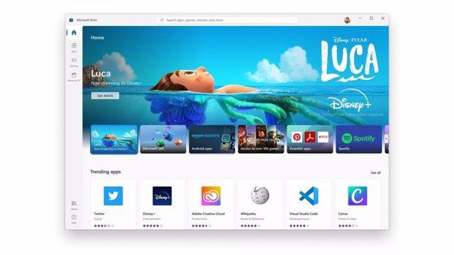 Microsoft Store con las nuevas apps de Disney + y Adobe Creative Cloud