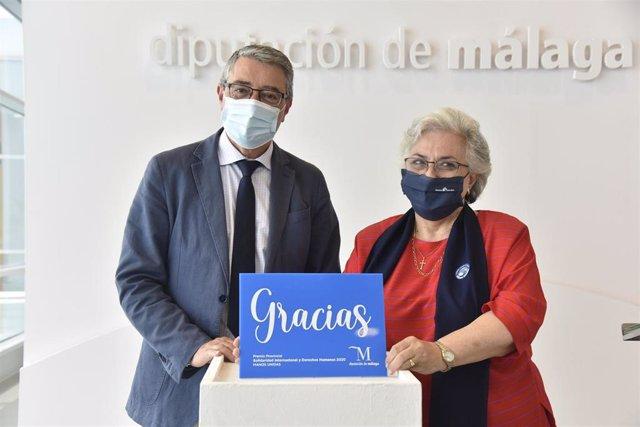 Entrega del Premio de Solidaridad Internacional y Derechos Humanos de la Diputación de Málaga a Manos Unidas