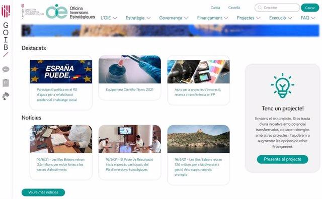 Web de Inversiones Estratégicas.