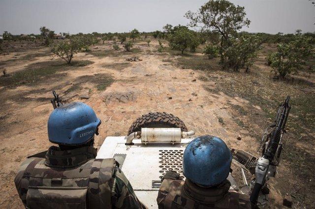 Archivo - Efectivos de la Misión de la ONU en Malí (MINUSMA)