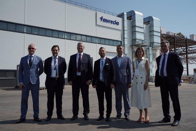 Archivo - Inauguración de una nueva planta industrial de Faurecia en Togliatti (Rusia)