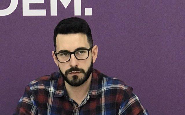 Archivo - El conseller y portavoz adjunto de Unidas Podemos en el Consell de Ibiza, Antonio Saucedo
