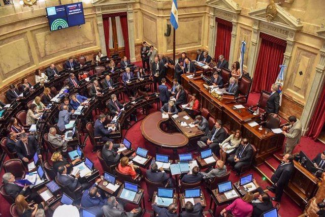 Archivo - Imagen de archivo del Senado de Argentina.