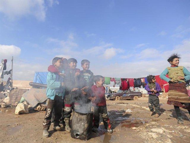 Archivo - Se cumplen 10 años del inicio de la guerra de Siria y los niños siguen siendo los más afectados por el conflicto bélico