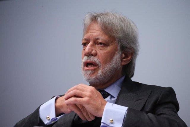 Archivo - El presidente de OHL, Luis Amodio, durante la inauguración del IV Congreso Iberoamericano del Consejo Empresarial Alianza por Iberoamérica (CEAPI), a 17 de mayo de 2021, en Madrid, (España). El encuentro, que se celebra el 17 y 18 de mayo, reúne