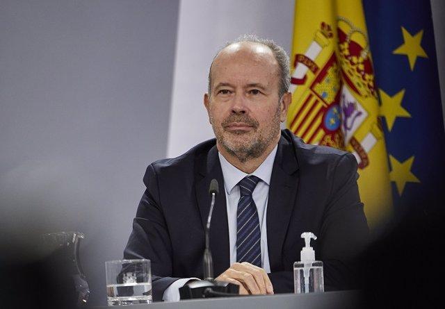 Archivo - Arxiu - El ministre de Justícia, Juan Carlos Campo