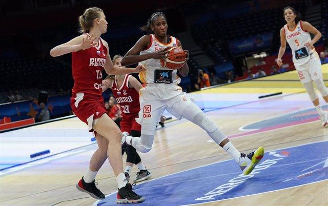 Archivo - Ndour en el España - Rusia del Eurobasket 2019