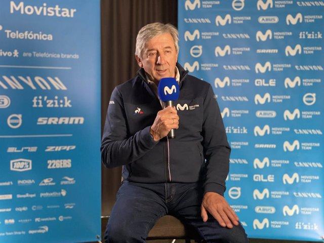 El manager general del Movistar Team, Eusebio Unzué.