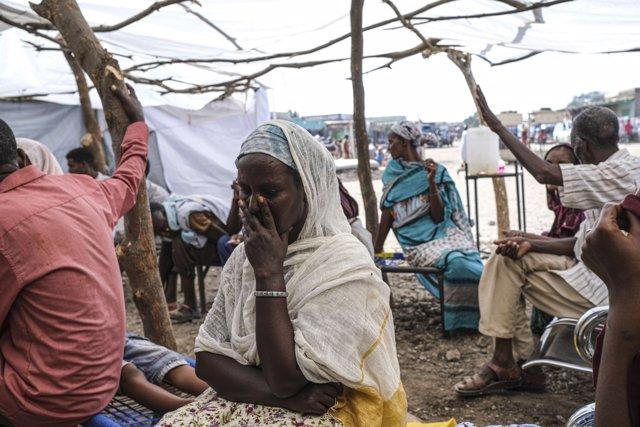 Refugiados de Etiopía en Sudán tras huir de los combates en la región de Tigray