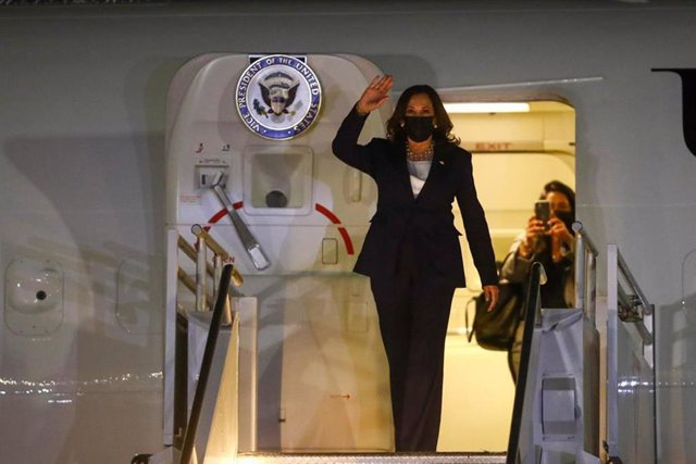 07 June 2021, Mexico, Mexico City: US Vice President Kamala Harris (L)arrives in Mexico City to start her official visit to Mexico. Photo: -/El Universal via ZUMA Wire/dpa