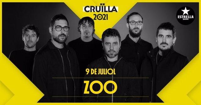 Cartell de Zoo en el Festival Cruïlla
