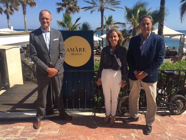 El presidente de la Asociación de Empresarios Hoteleros de la Costa del Sol (Aehcos), José Luque, en Marbella