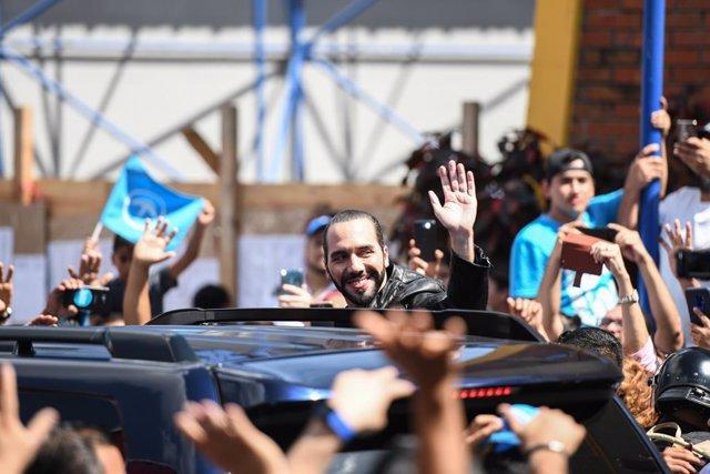 Archivo - El presidente de El Salvador, Nayib Bukele