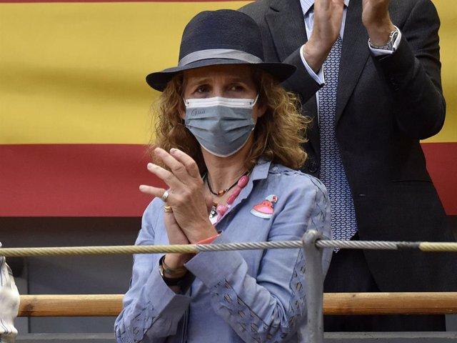 Archivo - La Infanta Elena ha mostrado su apoyo una vez más a la tauromaquia