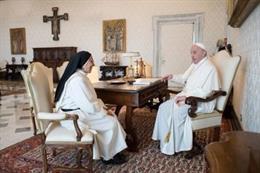 Sor Lucía Caram amb el Papa Francisco