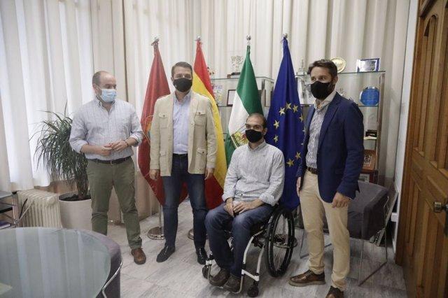 José María Bellido, Bernardo Jordano, Francisco Zuasti y Daniel Muñoz.