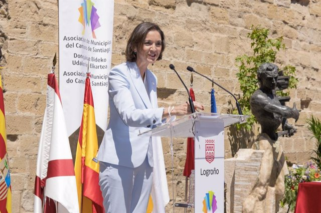 La ministra, Reyes Maroto, en Logroño