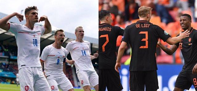 Archivo - República Checa y Países Bajos durante la Eurocopa