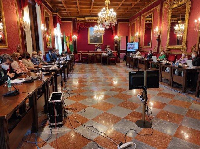 Pleno ordinario del Ayuntamiento de Granada correspondiente al mes de junio, antes de la marcha de la mayoría de los ediles