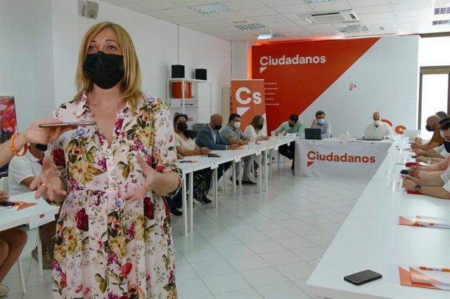 La coordinadora de Ciudadanos en Castilla-La Mancha, Carmen Picazo,