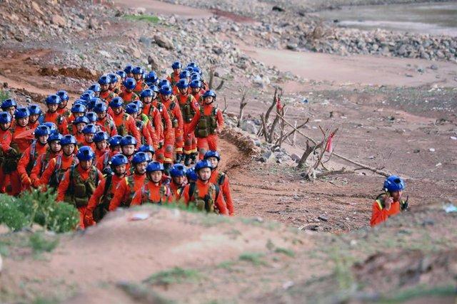 Rescat de corredors en la marató de Gansu, la Xina