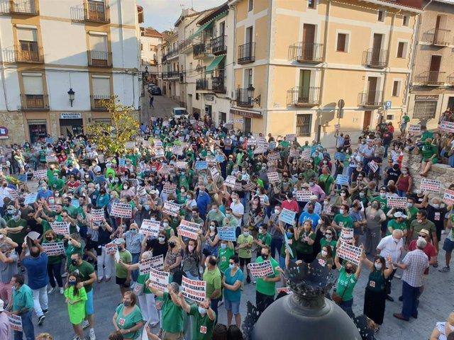 Manifestación en Horche