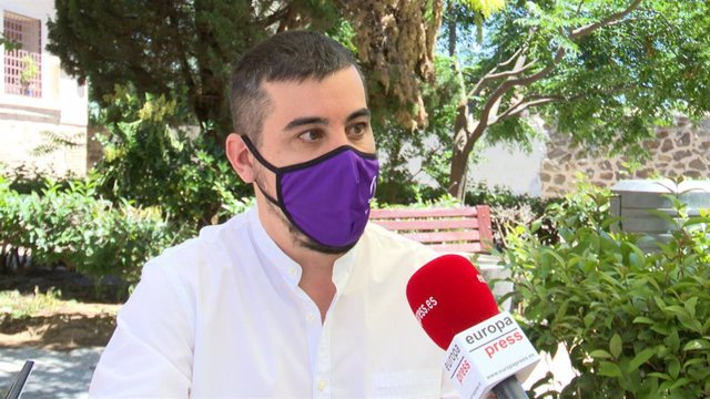 El coordinador autonómico de Podemos en C-LM, José Luis García Gascón