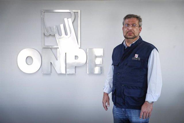 El presidente de la Oficina Nacional de Procesos Electorales de Perú (ONPE), Piero Corvetto