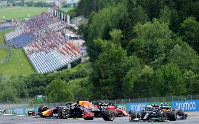 Verstappen y Hamilton en Austria
