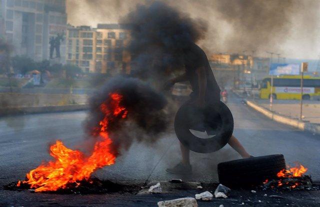 Protestes contra les autoritats libaneses a Beirut