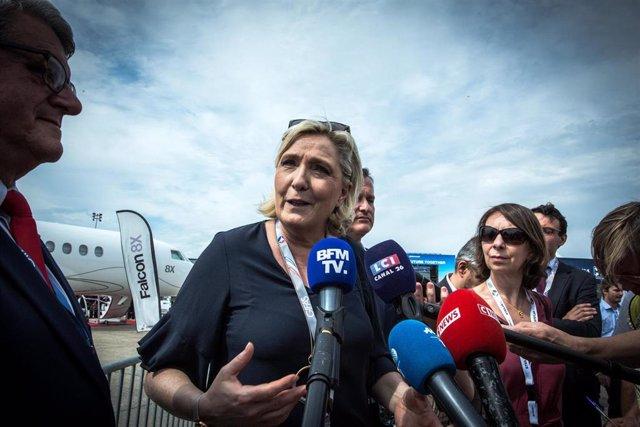 Archivo - La líder del partido ultraderechista francés Agrupación Nacional, Marine Le Pen