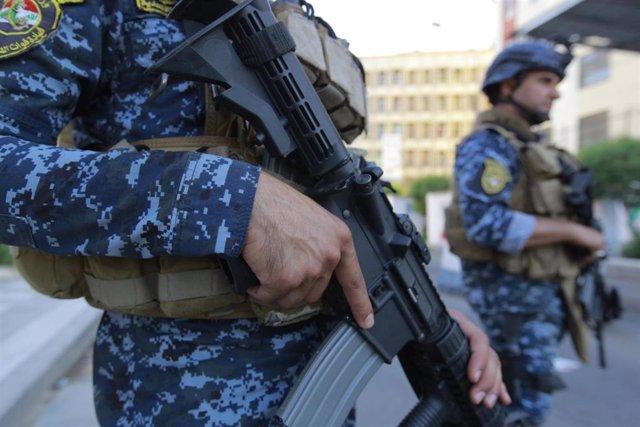 Archivo - Policías de Irak