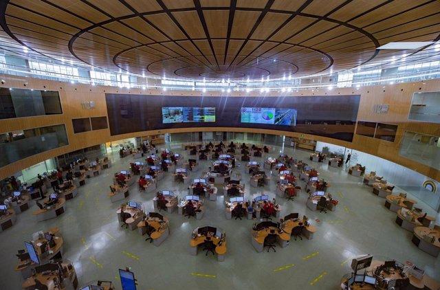 Archivo - Vista general en la sede de 112, a 21 de mayo de 2021, en Pozuelo de Alarcón, Madrid (España). SAMUR-Protección Civil es un servicio municipal de atención sanitaria de urgencias y emergencias, que presta sus servicios en la ciudad de Madrid. Sin