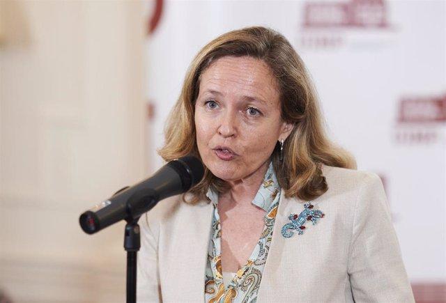 La vicepresidenta segunda del Gobierno y ministra de Asuntos Económicos y Transformación Digital, Nadia Calviño. Foto de archivo.
